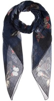Valentino Printed Cashmere, Silk And Wool Scarf