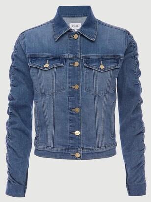 Frame Le Vintage Jacket Shirred Sleeve