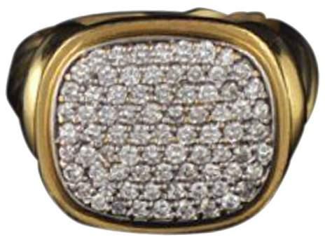David Yurman 18K Yellow Gold Noblesse Diamond Ring