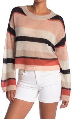 Wildfox Couture Phoebe Sahara Stripe Drop Shoulder Pullover