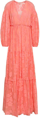 Ulla Johnson Margaux Fil Coupe Silk And Cotton-blend Maxi Dress