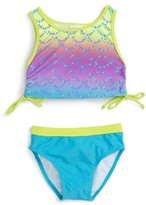 Infant Girl's Limeapple Print Two-Piece Swimsuit