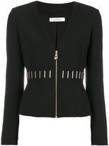 Versace zipped fitted jacket - women - Cotton/Polyester/Spandex/Elastane/Viscose - 40
