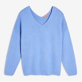 Joe Fresh Women+ V-Neck Sweater, Powder Blue (Size 1X)