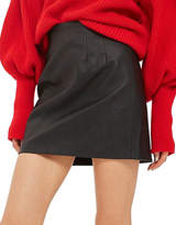 Topshop High-Waisted Faux Leather Mini Skirt