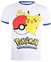 Pokemon Men's Pikachu Ball Short Sleeve T-Shirt