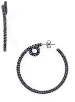 Marc Jacobs Pavé Twisted Hoop Earrings