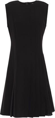 Theory Pleated Crepe Mini Dress