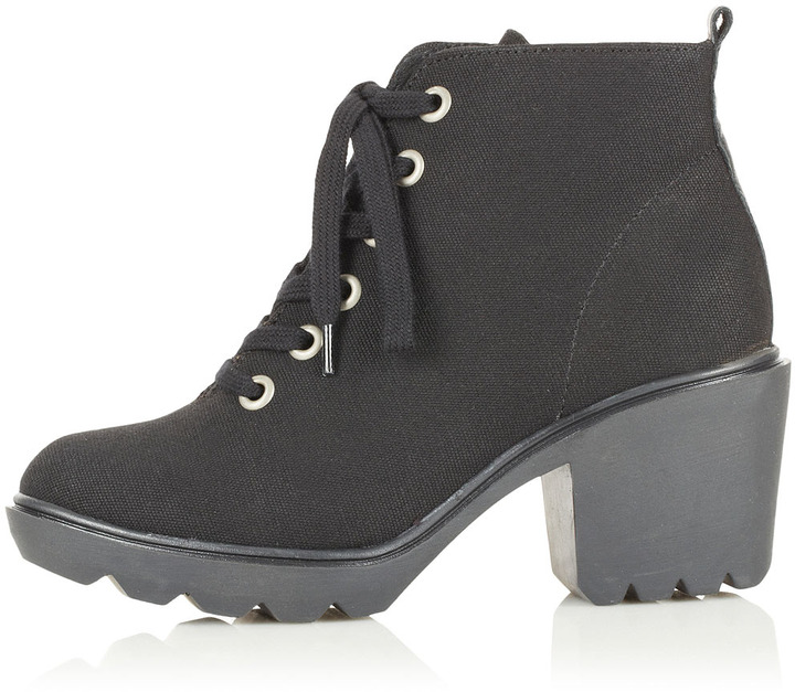 Topshop ACTIVIST Chunky Canvas Boots