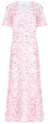 Warehouse Floral Tiered Wrap Dress
