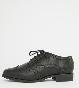 London Rebel Wide Fit Lace Up Brouges