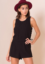 Missy Empire Lili Black Side Lace Up Detail Playsuit