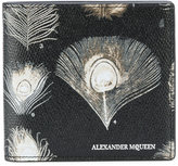 Alexander McQueen peacock feather print wallet