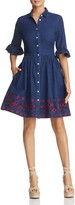 Kate Spade Embroidered Chambray Dress