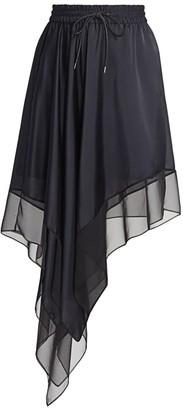 Sacai Satin & Chiffon Skirt