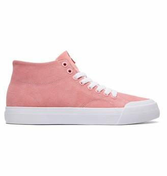 DC Women's Evan HI Zero SE Skate Shoe Pink 7 M US