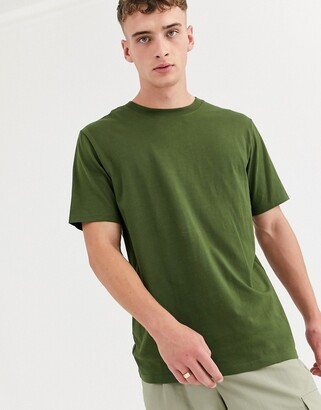 Weekday relaxed fit t-shirt in khaki-Green