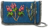 Stella McCartney embroidered denim Falabella shoulder bag - women - Cotton - One Size