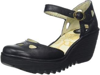 Fly London Yuna Women's Wedge Sandals - Black (Black) 7 UK (40 EU)