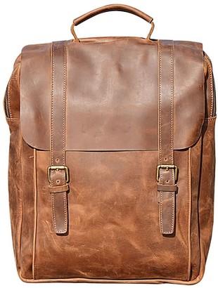 Touri 16'' Genuine Leather Backpack In Vintage Look Brown