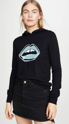 Markus Lupfer Mia Painted Lip Knit Hoodie