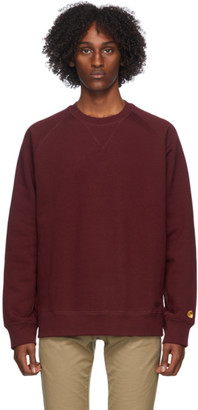 Carhartt Work In Progress Burgundy Chase Sweatshirt