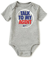 Nike Baby Boys Newborn-12 Months Talk To My Agent Short-Sleeve Bodysuit