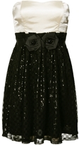 Sequin Rosette Dress