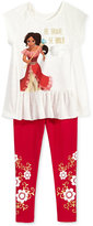 Disney Disney'sandreg; Princess Elena 2-Pc. Top and Leggings Set, Little Girls (4-6X)