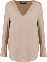 By Malene Birger Mizar stretch-silk blouse