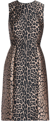 J. Mendel J.mendel Pleated Paneled Jacquard Dress