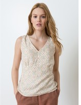 Somewhere Woman's pure viscose top with exclusive Crown print, HIGATA