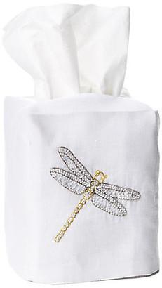 Hamburg House Dragonfly Linen Tissue Box Cover