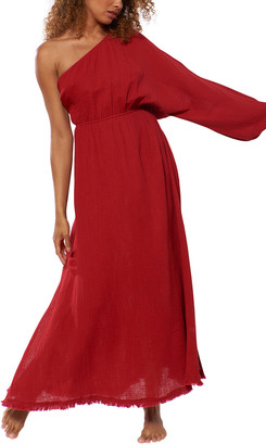 Red Carter One Shoulder Maxi Dress