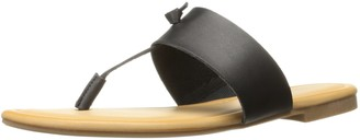 Rampage Women's Paddy Thong T-Bar Knot Memory Foam Insole Slip-On Sandal