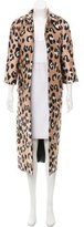 ADAM by Adam Lippes Leopard Patterned Long Coat