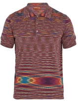 Missoni Striped-cotton Polo Shirt