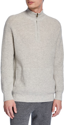 Vince Men's Thermal Quarter-Zip Sweater