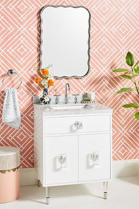 Lacquered Regency Powder Bathroom Vanity By Tracey Boyd in Grey Size ALL