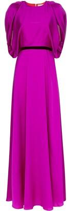 Roksanda Draped Belted Gown