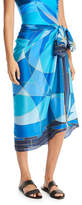Gottex Kaleidoscope Silk Pareo Coverup, One Size