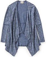 People's Project LA Big Girls 7-16 Open-Front Draped Quincy Cardigan
