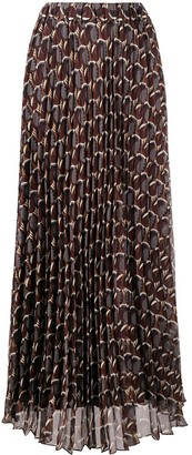 P.A.R.O.S.H. abstract-print A-line chiffon skirt