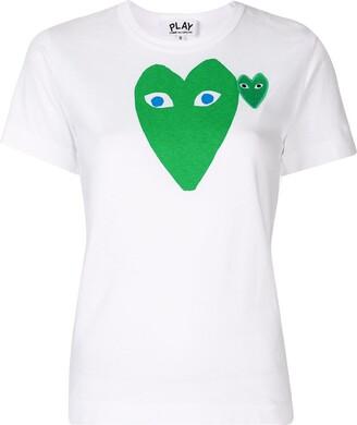 Comme des Garcons logo heart print slim fit T-shirt