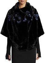 Gorski Butterfly-Inset Mink Jacket