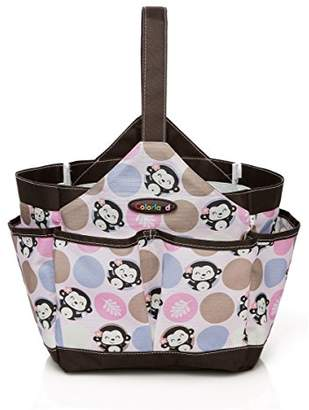 COLORLAND Emilia Water Resistant Baby Care Kitbag/Feeding Bath Organiser, Pink Monkey Madness