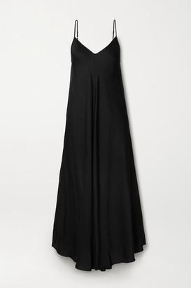 L'Agence Lorraine Asymmetric Crepe Dress - Black