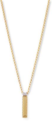 Roberto Coin Princess 18K Yellow Gold Diamond Initial Necklace, I