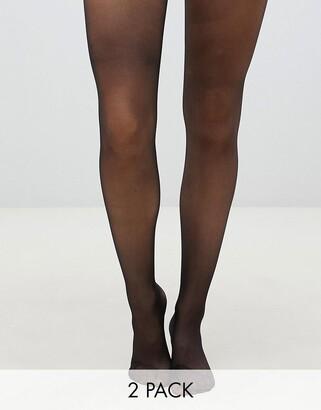 Gipsy soft luxury matte 15 denier 2 pack in black