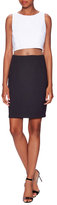 Bailey 44 Colorblock Mesh Waist Sheath Dress